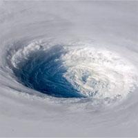 Siêu bão Trami đầy đe dọa nhìn từ không gian