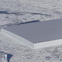 NASA công bố hình ảnh tảng băng trôi vuông thành sắc cạnh, chưa từng nhìn thấy bao giờ