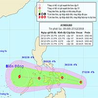 Áp thấp nhiệt đới áp sát biển Đông, khả năng mạnh lên thành bão