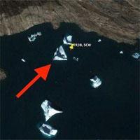 Hình ảnh nghi là tàu của người ngoài hành tinh ngoài khơi bờ biển Greenland