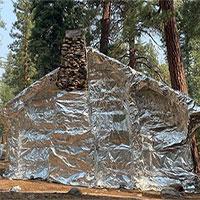 Ngôi nhà được bọc kín để chống cháy rừng