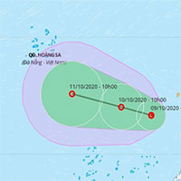 Biển Đông lại xuất hiện vùng áp thấp gây mưa rất lớn
