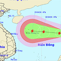 Áp thấp nhiệt đới mạnh lên thành bão số 8, có lúc giật cấp 14 hướng vào miền Trung