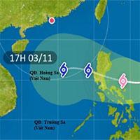 Bão Goni di chuyển nhanh khi vào biển Đông