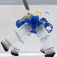 Robot bước đi giống rùa không cần mạch điện tử