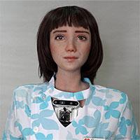 """Ra mắt robot y tá mới, là """"em gái"""" của người máy Sophia"""