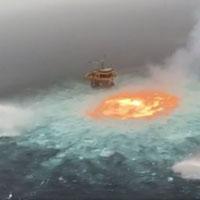 Kinh hoàng cảnh 'mắt lửa' rực cháy ngoài khơi Vịnh Mexico như cánh cổng vào địa ngục