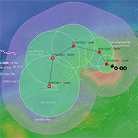 Cơn bão số 3 trên biển Đông đang ở giai đoạn mạnh nhất