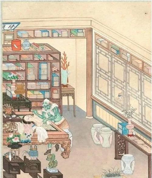 """Toàn cảnh bức họa """"Nhòm cửa thấy quỷ"""" được trưng bày trong Bảo tàng Quốc gia Trung Quốc."""