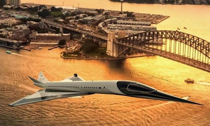 Thiết kế máy bay siêu thanh không thải khí và siêu êm.