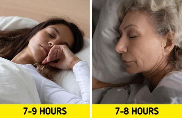 Thực ra, số giờ ngủ trong ngày của người già và người trẻ cũng không khác nhau nhiều.