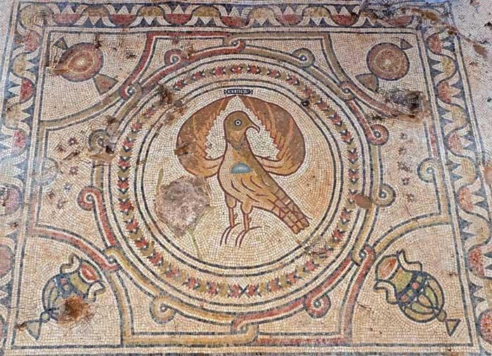 Bức tranh khảm trong nhà thờ dành riêng cho Thánh tử vì đạo.