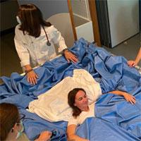 Thí nghiệm cho phụ nữ nằm trên giường nước 5 ngày của ESA