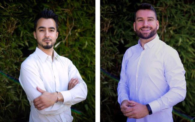 Aaron Schaller (trái) và Darko Mandich (phải)
