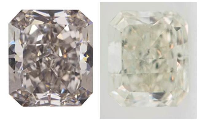 Kim cương đổi màu.