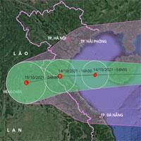Bão số 8 đang ở giai đoạn mạnh nhất, đi sâu vào đất liền khu vực Thanh Hóa - Quảng Bình