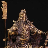 Tại sao các bức tượng điêu khắc Quan Vũ đều nhắm mắt?